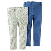 With solid or floral to choose from, these will be her go-to pants for school or play!<br>