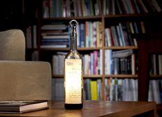 Upcycled Wine Bottle Lamp: Beacon