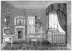 Victorian Bedroom Photos   Victorian Bedroom, 1884 Photograph - Victorian Bedroom, 1884 Fine Art ...
