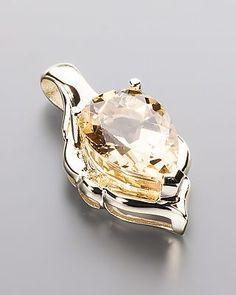 Exklusiver Goldanhänger mit Goldberyll - von Sogni d´oro #schmuck #jewelry…