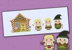 Hansel and Gretel - Grimm's Fairy Tales - PDF cross stitch pattern от cloudsfactory
