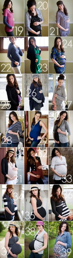 Baby Bump Progression. I want to do this one day :)