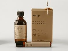 The packaging of Aesop an Australian Beauty care brand is very intriguing and raises curiosity. Products are in medicinal bottle as the brand wants to be the modern apothecary packaging (as seen in the environment store). The packaging is simple, clean, pure and holistic and differ to the beauty industry that helps the brand to differentiate and being seen as medicine for the skin. This aspect of pharmaceutical products can help catching more customers.
