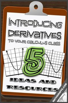 Teaching Derivatives in High School Calculus - ideas to change it up and engage your students Ap Calculus, Calculus Notes, Differential Calculus, Algebra Games, Math Games, High School Algebra, Math Courses, Secondary Math, Computer Science