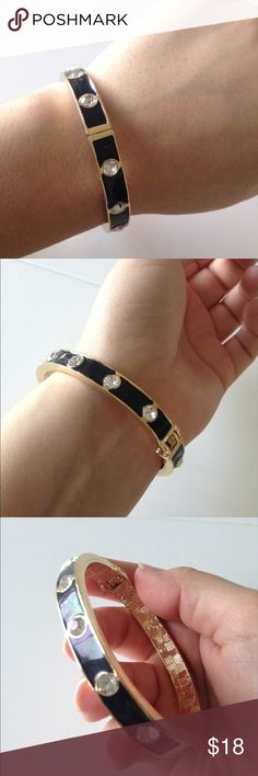 Diamond Bracelet Fashion bracelet, black with gold ! Very cute, looks very chic! Never worn! Jewelry Bracelets