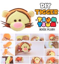 How to Make Tigger Tsum Tsum Sock Plush