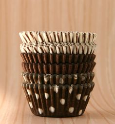 MINI Brown Mix Cupcake Liners (found here: http://www.etsy.com/listing/67826704/mini-brown-mix-cupcake-liners-60)