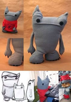 Teneisha Jones Makes Stuffed Creatures that Are Grumpy, Yet Upbeat #kids #toys trendhunter.com