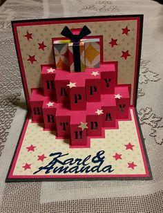 Happy Birthday Pop Up Card - Made by Amanda Renea Pop Up, Advent Calendar, Amanda, Card Making, Happy Birthday, Holiday Decor, Projects, Cards, Craft