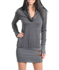 G2 Fashion Square Cowl Neck Long Sleeves Sweater Dress $20.96 #topseller
