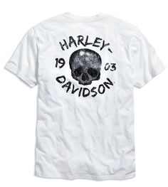 4e15da2eb29ac House of Harley-Davidson    Harley-Davidson reg  Shop    Men    Shirts,  Sweatshirts   Sweaters    Harley-Davidson® Men s 1903 Skull V-Neck T-Shirt  Slim Fit