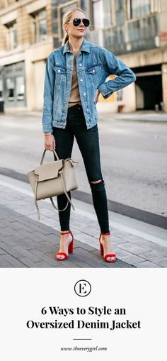 6 Ways to Style an Oversized Denim Jacket #styleinspo #theeverygirl