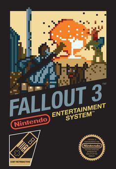 NES Style Fallout 3 box art
