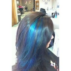 50 Blue Hair Highlights Ideas, Blue highlights are becoming more and more popular as people become more adventurous with their hair. It can be very liberating to have unique and fun. Blue Hair Streaks, Blue Hair Highlights, Teal Hair, Hair Color Blue, Brown Hair, Black Hair, Hair Colors, Blonde Hair, Light Highlights