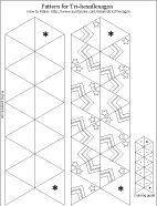 Printable pattern for tri-hexaflexagon - ready to color including directions