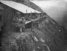 Italian barracks on the Dolomitic front, WWI