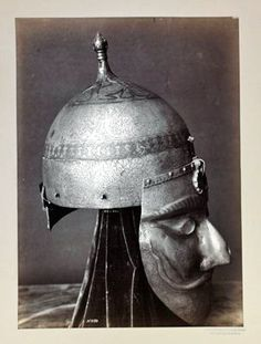 "Kipchak ""face mask"" helmet  Kipchak, a Turkic tribe alliance. Originated in Kimek Khanate, conquered most of the Eurasian steppe region in the 11-12 century Turkic expansion"