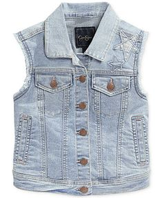 Jessica Simpsons Girls' Dee Dee Embroidered Vest