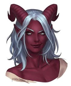 f Tiefling Sorcerer Robes portrait female urban City Tower med Dungeons And Dragons Characters, Dnd Characters, Fantasy Characters, Female Characters, Fantasy Character Design, Character Design Inspiration, Character Creation, Character Art, Tiefling Female