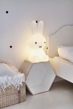 veilleuse pour bébé, lampe de bébé lapin blanc