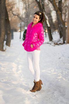 Jennyfer J Coat L Hot Pink Rabbit Bunny Faix Fur Bomber Jacket ...
