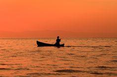 Fisherman on Lake Malawi, Malawi