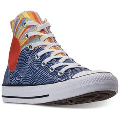 Converse Women's Chuck Taylor High-Top Mara Hoffman Casual Sneakers... ($85) ❤ liked on Polyvore featuring shoes, sneakers, converse shoes, hi tops, converse footwear, high-top sneakers and high top shoes