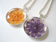 Gift Set  2 Flower Necklaces by Febystan on Etsy, $22.00
