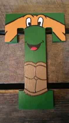 Ninja Turtle Wood Nursery Letters