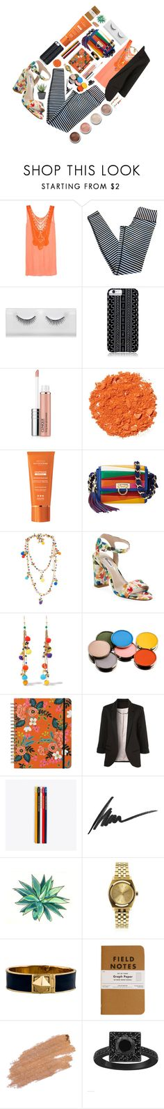 """""""Stay Color"""" by yufrenny ❤ liked on Polyvore featuring Miguelina, lululemon, Savannah Hayes, Clinique, Illamasqua, Institut Esthederm, Salvatore Ferragamo, Rosantica, Dune and Morphe"""