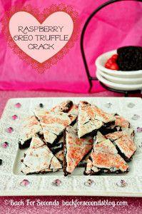 Raspberry Oreo Truffle Crack | TheBestDessertRecipes.com
