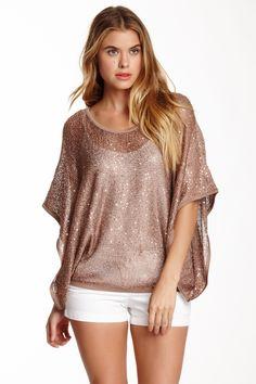 Chic Sequin Kaftan Sweater