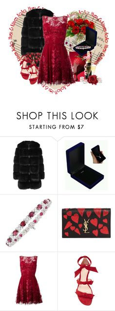 """""""My Funny Valentine"""" by lois-boyce-flack ❤ liked on Polyvore featuring Love Squared, Givenchy, Yves Saint Laurent, Zuhair Murad and Alexandre Birman"""