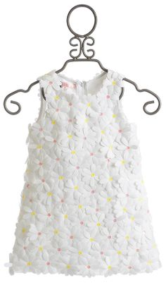 Biscotti Girls White Dress Crazy for Daisies