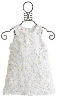Biscotti Girls White Dress Crazy for Daisies