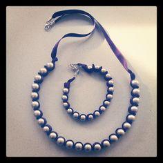 Collana + braccialetto perle