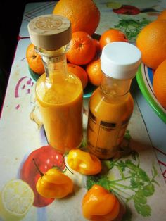 4 tablespoons olive oil  1 large carrot, finely diced 1/2 cup red onion, diced 1 cup orange bell pepper, diced 2 jalapeños, diced 6 to 8 habaneros, carefully remove stems and slice into quarters(use gloves or be very careful) Salt and white pepper, to taste 1 cup water 3/4 cup white distilled vinegar 3 tablespoons apple cider vinegar