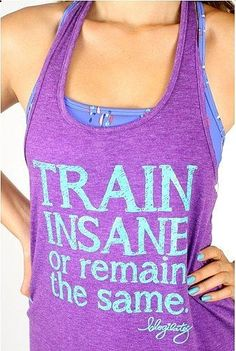 Love the oversized tank for workouts. To Give: Train Insane Tank ($22) .