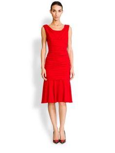 Dolce & Gabbana - Ruched Crepe Dress
