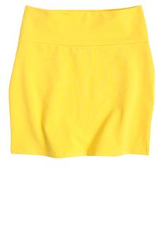 i kind of really want a cute, all bright-yellow skirt.