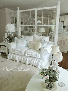 Hang the shelf on the wall directly above the small table to give a shabby chic cottage china hutch effect. Description from pinterest.com. I searched for this on bing.com/images #shabbychicfurnituresofa