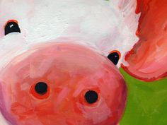 Patrick the Pig – 18″x24″ Pig Painting on Canvas | Logan Berard ...