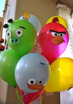 Angry Birds birthday party theme we did for my 7 yo was a hit!