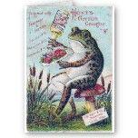 Hoyt's German Cologne Frog Greeting Cards by angelandspot