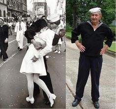 RIP: Glenn McDuffie, World War II 'Kissing Sailor' he died aged 86 // funny pictures - funny photos - funny images - funny pics - funny quotes - Nostalgia, Before Us, Coming Home, Vintage Pictures, Back In The Day, World War Ii, Funny Photos, Funny Images, American History