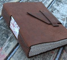 Brown Leather Journal | Flickr - Photo Sharing! Love, love, Love!