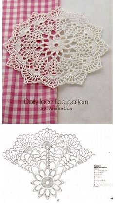 Crochet Coasters Pattern Ganchillo 44 New Ideas Filet Crochet, Mandala Au Crochet, Beau Crochet, Free Crochet Doily Patterns, Crochet Diagram, Crochet Chart, Crochet Squares, Thread Crochet, Crochet Motif