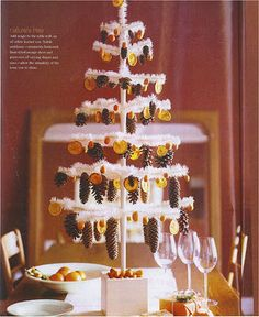 love love this little pinecone and persimmon christmas tree and its rv sized