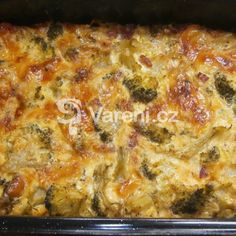 Zapečená brokolice s nivou recept - Vareni.cz Lasagna, Quiche, Breakfast, Ethnic Recipes, Food, Morning Coffee, Essen, Quiches, Meals