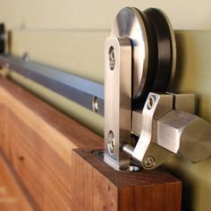 Barn Door Hardware. Read more at http://theydesign.net/sliding-barn-doors-for-kids-rooms/